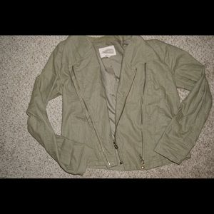 Olive green asymmetrical jacket